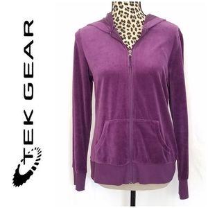 🎀3 /$25 Tek Gear Purple Velour Hoodie